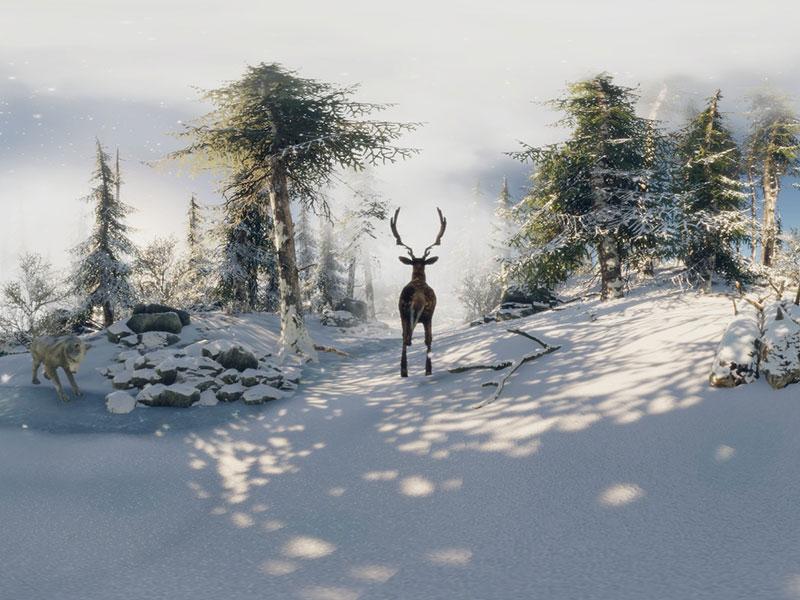 Animation traîneau du père Noel en VR et en mouvement