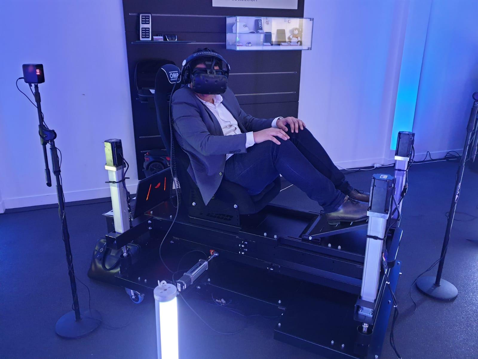 Fauteuil immersif en réalité virtuelle