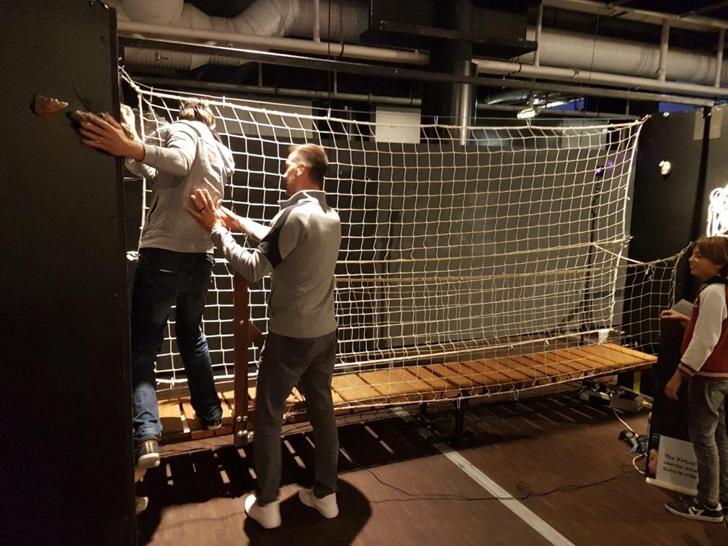mur escalade en réalité virtuelle