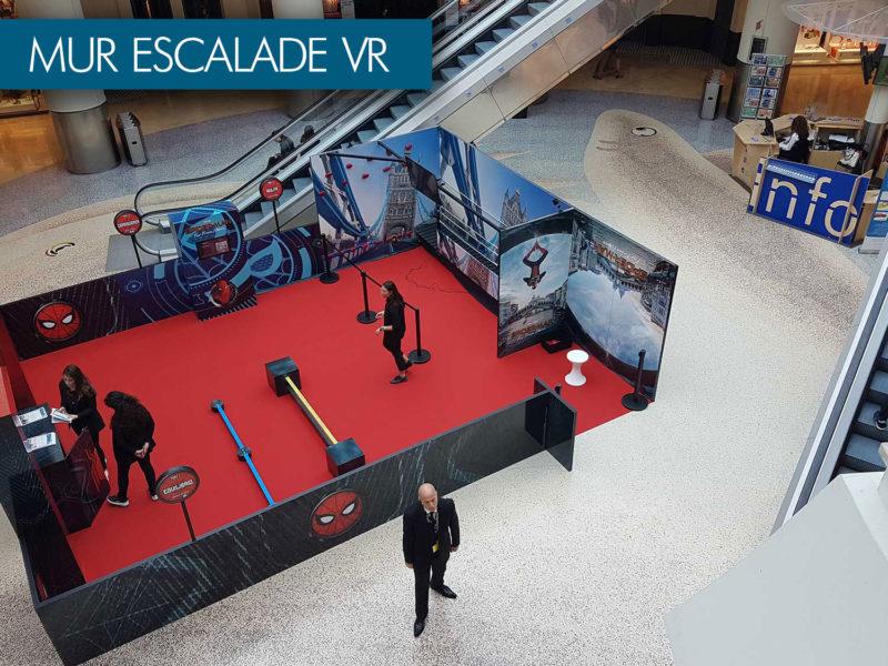 spiderman mur d'escalade en réalité virtuelle