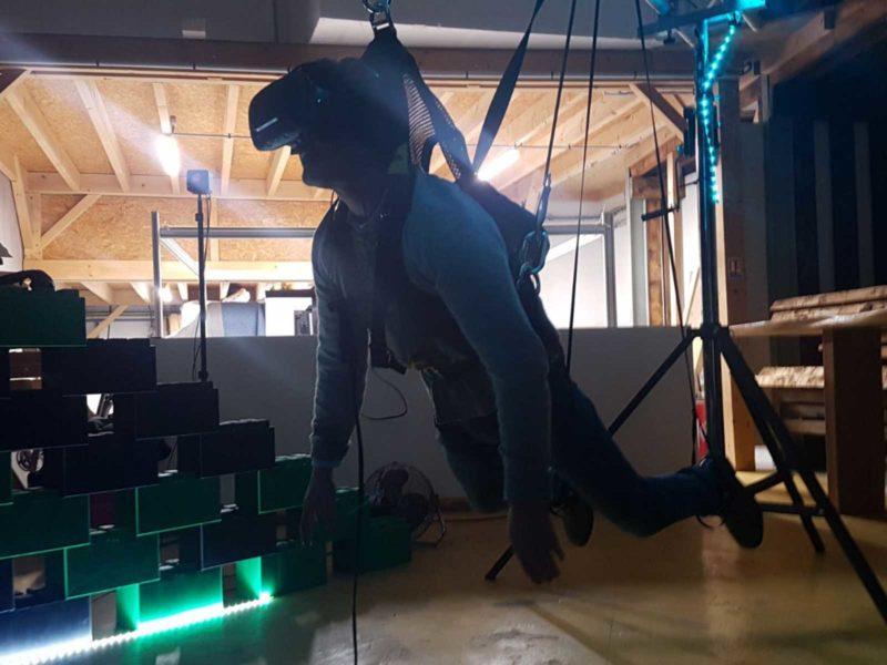 simulateur de vol plané en réailté virtuelle