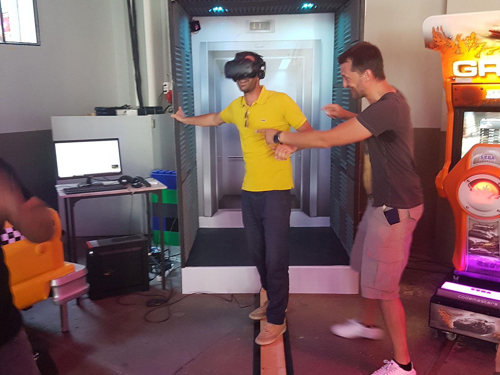 L'ascenseur en réalité virtuelle