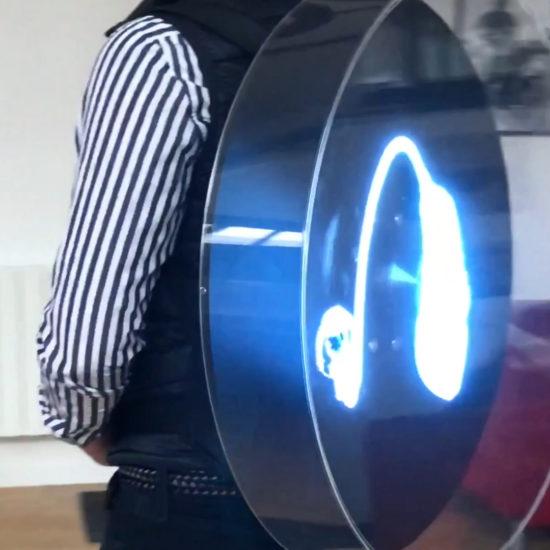 holostreet borne hologramme pour street marketing