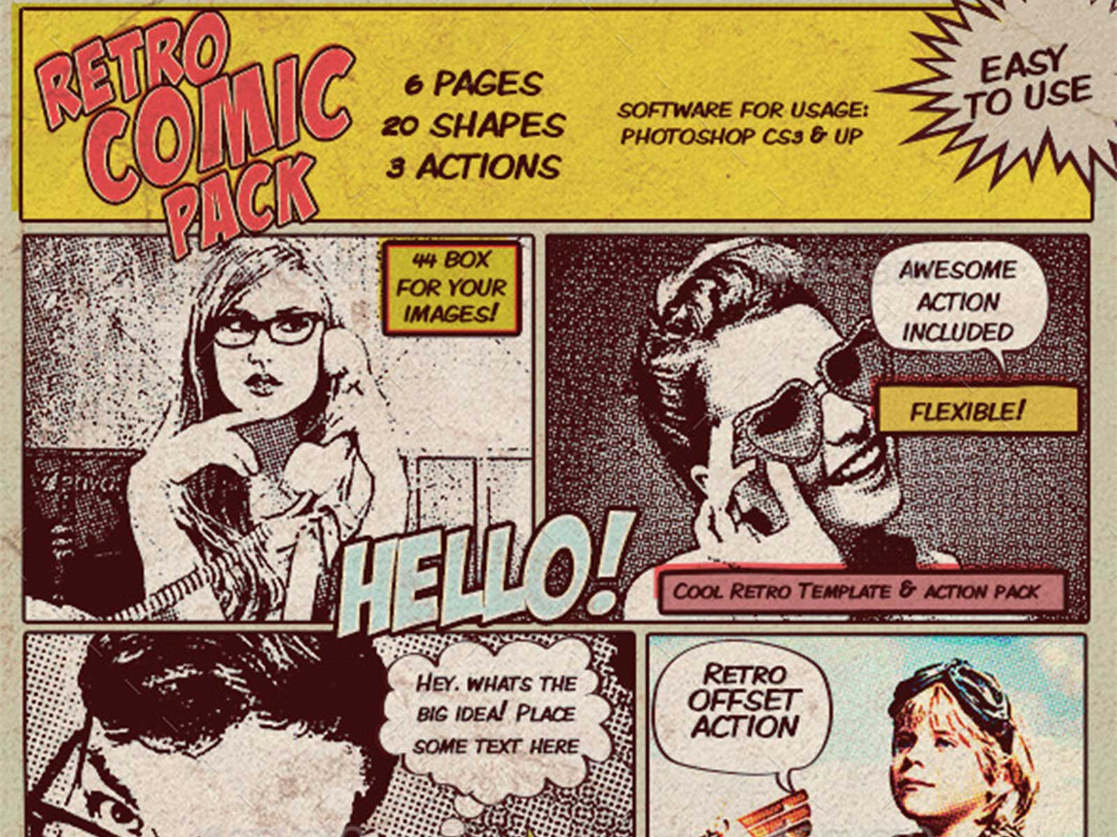 Animation photo BD comics