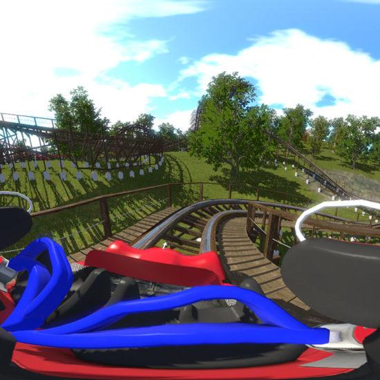 roller coaster en réalité virtuelle